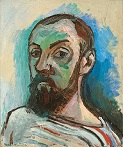 'Self-Portrait in a Striped T-Shirt' by Henri Matisse (1869-1954), 1906)