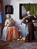 'Woman Reading a Letter' by Gabriel Metsu (1629-67), c. 1665