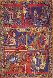 Morgan Leaf from Winchester Bible, 1160-75