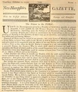 The New Hampshire Gazette, 1756
