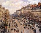 'Boulevard Montmartre' by Camille Pissarro (1830-1903)