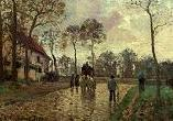'Stage Coach at Louveciennes' by Camille Pissarro (1830-1903), 1870