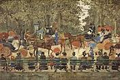 'Central Park' by Maurice Prendergast (1859-1924), 1901