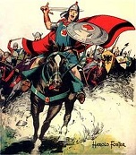 'Prince Valiant' by Hal Foster (1892-1982), 1937