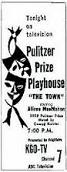 'Pulitzer Prize Playhouse', 1950-2