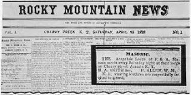 Rocky Mountain News, 1859