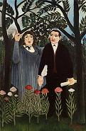 'Muse Inspiring the Poet' (Marie Laurencin and Guillaume Apollinaire)' by Henri Rousseau (1844-1910), 1909