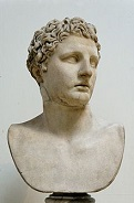 Bust of Meleager by Scopas (-395 to -350)