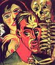 Self-Portrait with Death' by Max Pechstein, 1920