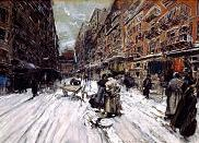 'Cross Streets of New York', by Everett Shinn (1876-1953), 1899