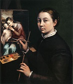 'Self-Portrait' by Sophonisba Anguissola (1532-1625), 1556