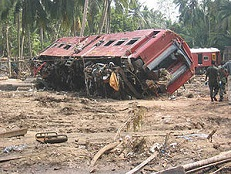 Sri Lanka Tsunami Train Wreck, Dec. 26, 2004