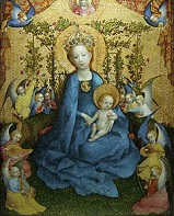 'Madonna of the Rose Bower', by Stefan Lochner (1409-52), 1440-2