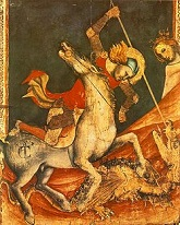 'St. George and the Dragon' by Vitale da Bologna (1289-1369), 1350