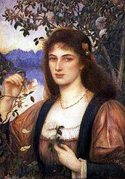 'A Rose from Armidas Garden' by Marie Spartali Stillman (1844-1927), 1894