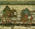 'Suburb II' by Egon Schiele (1890-1918), 1914