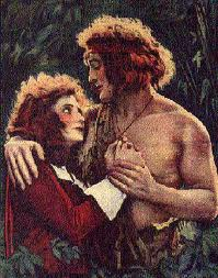 'Tarzan', starring Elmo Lincoln (1889-1952) and Enid Markey (1894-1981), 1918