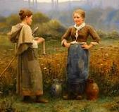 'The Meeting' by Daniel Ridgway Knight (1839-1924), 1888