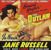 'The Outlaw', 1943, staring Jane Russell (1921-2011)