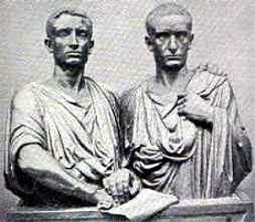 Tiberius Sempronius Gracchus (-163 to -133) and Gaius Sempronius Gracchus (-153 to -121)