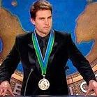 Tom Cruise (1962-) receiving a Scientology gold medal
