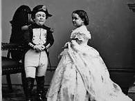 Gen. Tom Thumb (1838-83) and Lavinia Warren (1841-1919)