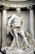 Neptune (Oceanus) in the Trevi Fountain, 1732-62
