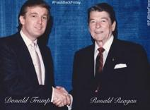 Donald Trump (1946-) and U.S. Pres. Ronald Reagan