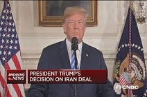Pres. Trump withdrawing from Iranian nuclear deal, May 8, 2018