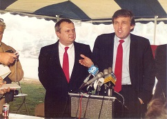 Donald Trump (1946-) in Portsmouth, N.H., Oct. 22, 1987