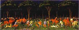 'The Hunt in the Forest' by Paolo Uccello (1397-1475), 1465-70