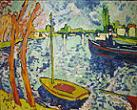 'The River Seine at Chatou' by Maurice de Vlaminck (1876-1958), 1906