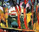 'Landscape with Red Trees' by Maurice de Vlaminck (1876-1958), 1906