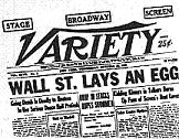 'Wall Street Lays An Egg', Variety, Oct. 30, 1929