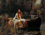 'The Lady of Shalott' by John William Waterhouse (1849-1917), 1888