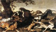 'Wild Boar Hunt' by Frans Snyders, 1625-30