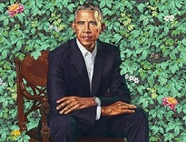 'Official Portrait of Pres. Barack Obama' by Kehinde Wiley (1977-), 2018
