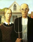 'American Gothic' by Grant Wood (1891-1942), 1930