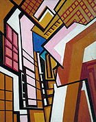 'Workshop' by Wyndham Lewis (1882-1957), 1914-5
